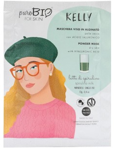 Powder mask - KELLY - latte di spirulina - Purobio