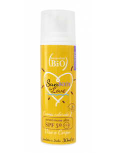Crema viso-corpo colorata SPF50 30ml - Parentesi Bio