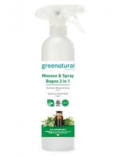 Mousse e Spray Bagno 2in1 Menta & Tea Tree - Eco - 500ml - Greenatural