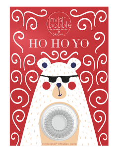 Xmas Greeting Card Ho Ho Yo - Invisibobble