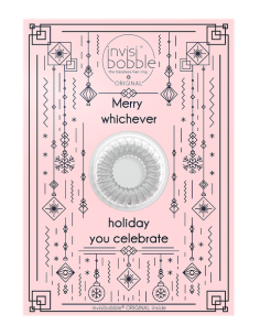 Xmas Greeting Card Merry Holiday - Invisibobble
