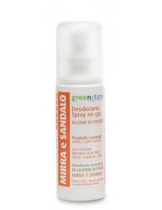 Deodorante Spray Mirra e Sandalo - Greenatural -